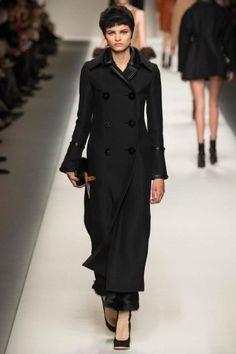 Cappotto lungo nero Fendi