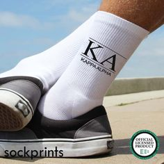 Kappa Alpha Order - Fraternity Crew Socks - Sold by the Pair