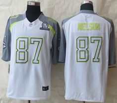 """$25.88 at """"MaryJersey"""" (maryjerseyelway@gmail.com) Nike Packers No.87 Jordy Nelson White Pro Bowl Men's Stitched NFL Elite Team Carter Jersey"""