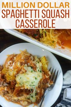 Million Dollar Spaghetti Casserole without all the carbs! This spaghetti squash casserole is a riff on one of my favorite pasta recipes and it is totally family friendly, packed with… Italian Recipes, Beef Recipes, Vegetarian Recipes, Cooking Recipes, Keto Veggie Recipes, Fall Recipes, Chicken Recipes, Spaghetti Recipes, Eat Healthy