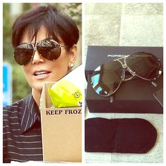 9ff660128aad NIB Porsche Design 8478 66cm Oversized Aviators As seen on the  Kardashian Jenner family!