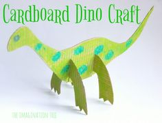 Make a cardboard dinosaur craft for your dino loving kids with this super simple cut and slot method of construction! Great for older kids to do alone or to make for little ones to decorate and play with on a rainy day. Dinosaur Crafts Kids, Dino Craft, Dinosaur Play, Dinosaur Activities, Penguin Craft, Animal Crafts For Kids, Craft Activities For Kids, Toddler Crafts, Kids Crafts