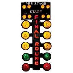 Final Round Traffic Signal Neon Pub Sign