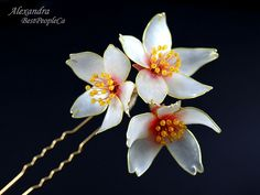 Цветы Вишни Смола  _  Cherry Blossom Resin Kanzashi!