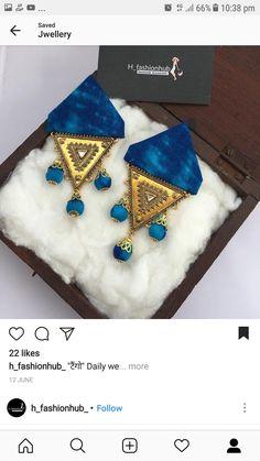 Ideas Jewerly Box Diy Earrings For 2019 Silk Thread Earrings, Fabric Earrings, Thread Jewellery, Textile Jewelry, Fabric Jewelry, Diy Earrings, Fashion Earrings, Thread Bangles, Diy Jewellery