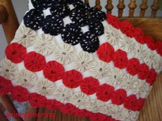 yo yo american flag pillow