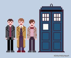Doctor Who Cross Stitch Pattern  Nine Ten and by XStitchMyHeart, £2.50