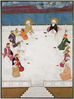 Indian saints and holy men, including Mullah Shah and Aurangzeb