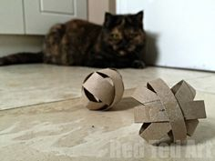 Now here is a little TP Roll Craft for Cat Lovers.. actually… this little Cat Toy Craft is also nice for hamsters and guinea pigs that like to play. It is super quick and easy to make and will provide hours of fun for your furry friend. Please note: after sharing this Cat Toy How …