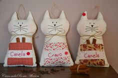 Fabric Toys, Cat Fabric, Handmade Stuffed Animals, Cat Crafts, Sewing Toys, Cat Pattern, Love Sewing, Diy Mask, Country Primitive