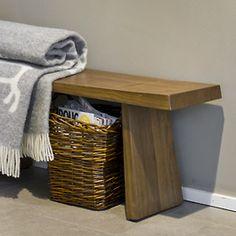 Teak bench, by Pentik, Finland Nordic Design, Teak, Bench, Basket, Living Room, Finland, Inspiration, Cabin, Lifestyle