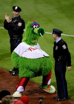 dance with the philly phanatic - truly the best mascot of all time!!!