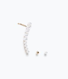 Image 1 of PEARL EARCUFF EARRINGS from Zara