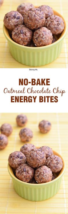 No Bake Oatmeal Chocolate Chip Energy Bites are all the boost you need in a perfect bite-sized package. One of my favorite snacks.