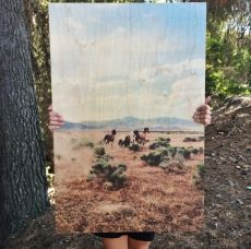 classic wood prints: print op hout, leuk effect!