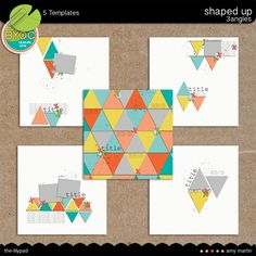 Templates: Shaped Up - Triangles by Amy Martin