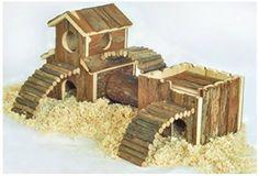 Hamster-House-Hideaway-Habitat-Tunnels-Natural-Wood-Small-Pet-Animal-Gerbil-Play