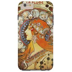 Alphonse Mucha La Plume Zodiac Art Nouveau Vintage Barely There iPhone 6 Plus Case