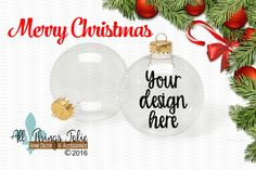 Christmas Ornament Mockup Photo -  Clear Christmas Ornament Mock-up Image by AllThingsJolie78 on Etsy https://www.etsy.com/listing/494512987/christmas-ornament-mockup-photo-clear