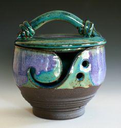 Kitty-Proof Yarn Bowl. Ocpottery via Etsy..