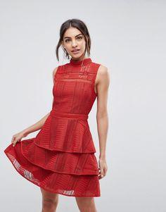 ADELYN RAE BIANCA TIERED DRESS - RED. #adelynrae #cloth #