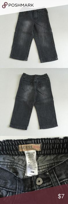 Guess toddler boys black elastic jeans Like New Guess Bottoms Jeans