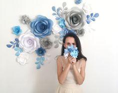 Papel flores telón de fondo de la boda arco foto stand-flor