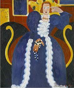 Henri Matisse, The Blue Lady, 1837 on ArtStack #henri-matisse #art