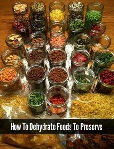 Dehydrate foods to preseve