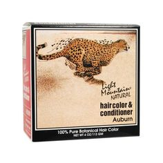 Light Mountain Natural Hair Color and Conditioner Auburn - 4 fl oz - Light Mountain Natural Hair Color and Conditioner Auburn Description: 100% Premium Henna Henna coats each hair shaft with a natural, semi-permanent protein called hennatannic acid. Heat causes the hennatannic acid to cling to the proteins found in the hair (or nails and skin, if desired) . Because henna coats and seals the hair shaft, it helps protect the hair from damaging effects of sun, salt, chlorine, wind and pollution…