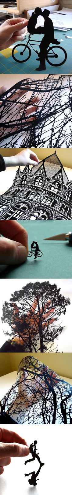 hand-cut paper art by Joe Bagley