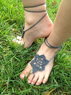 Barefoot Sandals Summer Star crochet foot jewelry by TheHookUp3400, $15.00