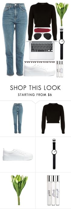"""#64"" by oneandonlyfashion ❤ liked on Polyvore featuring Topshop, Helmut Lang, H&M, Rosendahl, philosophy and Ray-Ban"