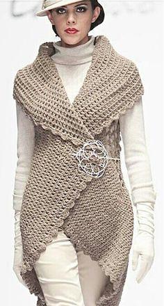 Captivating Crochet a Bodycon Dress Top Ideas. Dazzling Crochet a Bodycon Dress Top Ideas. Gilet Crochet, Crochet Vest Pattern, Crochet Jacket, Crochet Cardigan, Crochet Scarves, Crochet Shawl, Crochet Clothes, Knit Crochet, Crochet Patterns