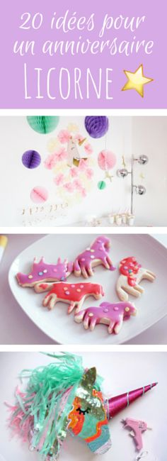 Recipes, DIY, Deco: 20 ideas for birthday on the theme of unicorns! 20th Birthday, Unicorn Birthday Parties, Birthday Diy, Birthday Ideas, Crafts For Boys, Diy And Crafts, Diy For Teens, Diy For Kids, Diy Party Decorations