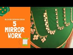 most beautiful hand embroidery mirror work design Embroidery Leaf, Embroidery Neck Designs, Embroidery Materials, Hand Embroidery Videos, Hand Embroidery Flowers, Embroidery Flowers Pattern, Embroidery Blouses, Magam Work Designs, Hand Work Design