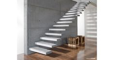 Utah's first choice for precast concrete stair treads. Cantilever Stairs, Concrete Staircase, Floating Staircase, Precast Concrete, Wood Stairs, House Stairs, Open Staircase, Polished Concrete