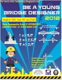 bridge design competition tingkat smama undip Bridge Design Competition Tingkat SMA/MA   UNDIP