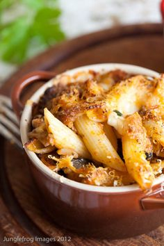 baked penne with eggplant, tomatoes, and cheese