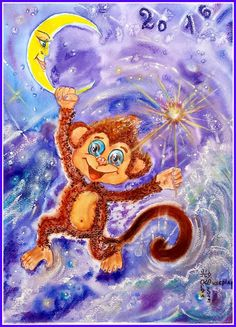 Chinese year of red monkey 2016