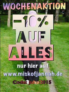 10 % auf alles bei Misk of Jannah http://www.miskofjannah.de/blog/10-auf-alles-bei-misk-of-jannah/ #islam #niqab #hijab #quran #jilbab  Asselamualeykum wa rahmetulahi wa barakathu Neue WOCHENAKTION ☺ Jede Woche kommt eine – 10% auf alles ab einem Einkauf von 15€ Gleich einlösen auf www.miskofjannah.de This site is using SEO Baclinks plugin created by Locco.Ro