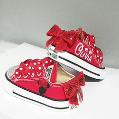 This Red Converse Crystal Shoes Baby Toddler Minnie Mouse is just one of the custom, handmade pieces you'll find in our sneakers & athletic shoes shops.