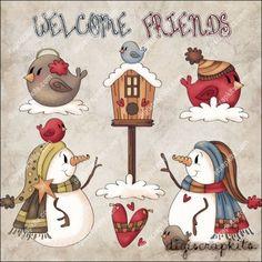 Welcome Friends 1 Clip Art Set