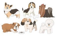 SPAI148, 프리진, 일러스트, SPAI148a, 동물, 에프지아이, 라인, 컬러풀, 컬러, 색채, 강아지, 개, 반려동물, 애완동물, 웰시코기, 비글, 요크셔테리어, 불독, 시츄, 푸들, 비숑, 뼈다귀, 사료, 밥, 밥그릇, 일러스트, illust, illustration #유토이미지 #프리진 #utoimage #freegine 19952211