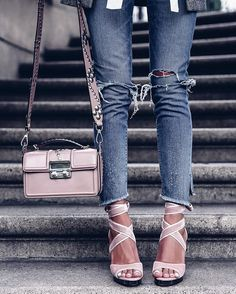 Pink Lanvin bag & Valentino sandals via @coltortiboutique #ootd #whatiwore + receive 20% off with code ANNABELLE20