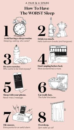 How to have the worst sleep (a parody post).