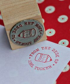 Pencil Personalized Stamp.