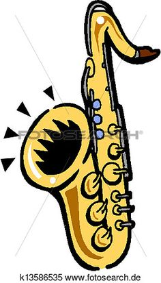 Lichtschalter clipart  vektor, silhouette, von, saxophon, mit, musikalisch, symbole Große ...