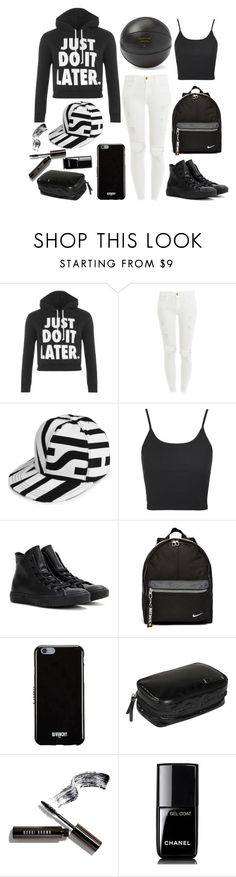 """""""It's time to play basketball"""" by prettyorchid22 ❤ liked on Polyvore featuring WearAll, Frame Denim, Moschino, Topshop, Converse, NIKE, Givenchy, Clava, Bobbi Brown Cosmetics and Chanel"""