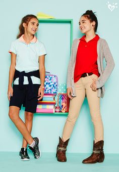 Accessorize, layer, experiment! Make our uniform pieces your own by adding a fun twist that expresses who you feel like being today.